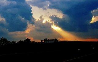 Beautiful sunrise in New England.