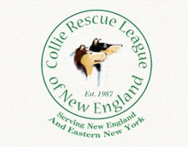 Logo that links to Collie Rescue League of New England.